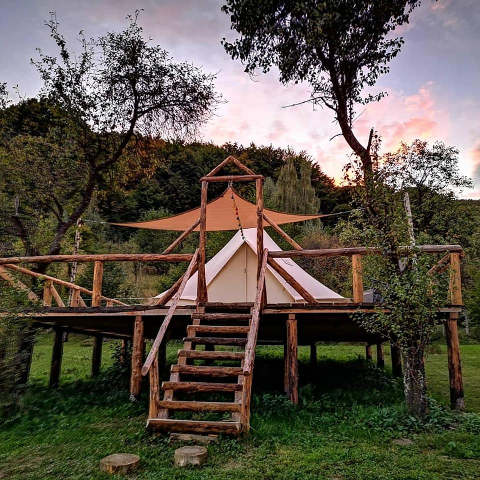 sunrise glamping retreat